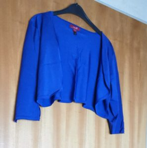 Plus Size Online Flohmarkt_Monsoon_Bolero_blau